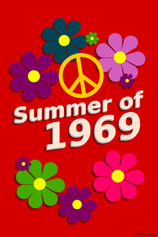 Wall Art, Summer Of 1969 | Peace, - PosterGully