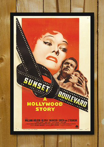 Glass Framed Posters, Sunset Boulevard Glass Framed Poster, - PosterGully - 1