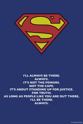 PosterGully Specials, Superman | Standing For Justice, - PosterGully