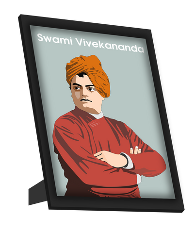 Framed Art, Swami Vivekananda Standing Framed Art, - PosterGully