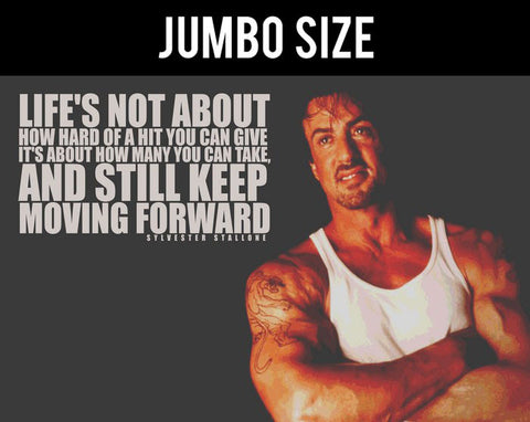 Jumbo Poster, Sylvester Stallone Quote | Keep Moving Forward | Jumbo Poster, - PosterGully