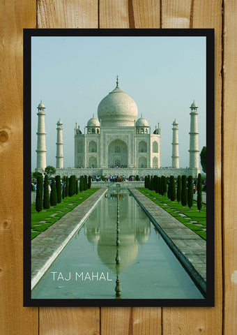 Glass Framed Posters, Taj Mahal Agra India Glass Framed Poster, - PosterGully - 1