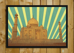 Buy framed posters online shopping india world map vintage glass taj mahal vintage retro rays glass framed poster gumiabroncs Choice Image