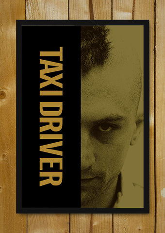 Glass Framed Posters, Taxi Driver Grunge Glass Framed Poster, - PosterGully - 1