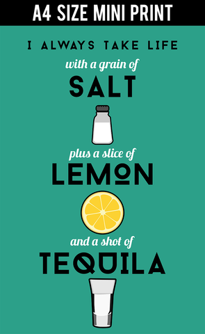 Mini Prints, Tequila Life Humour | Mini Print, - PosterGully