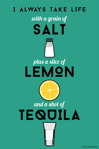 Wall Art, Tequila Life Humour, - PosterGully