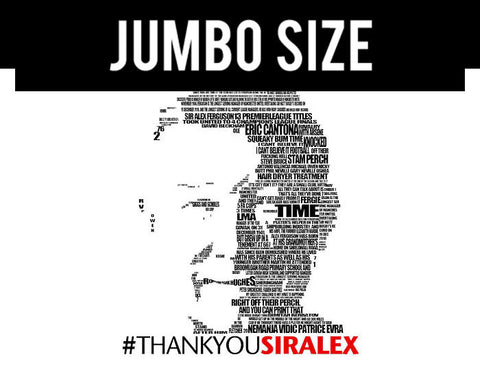 Jumbo Poster, Thank You Sir Alex Minimal Art | Jumbo Poster, - PosterGully
