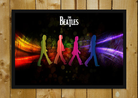 Glass Framed Posters, The Beatles Abbey Road Glass Framed Poster, - PosterGully - 1
