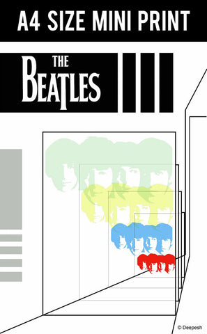 Mini Prints, The Beatles | Abstract Art | Mini Print, - PosterGully