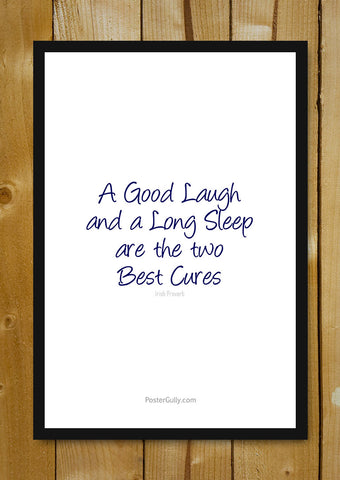 Glass Framed Posters, The Best Cures Glass Framed Poster, - PosterGully - 1