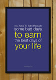 Glass Framed Posters, The Best Days Of Your Life Glass Framed Poster, - PosterGully - 1