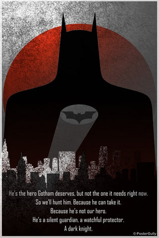 PosterGully Specials, The Dark Knight Artwork by Aritra, - PosterGully