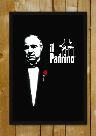 Glass Framed Posters, The Godfather Il Padrino Glass Framed Poster, - PosterGully - 1