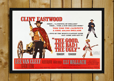 Glass Framed Posters, The Good, The Bad & The Ugly Retro Glass Framed Poster, - PosterGully - 1