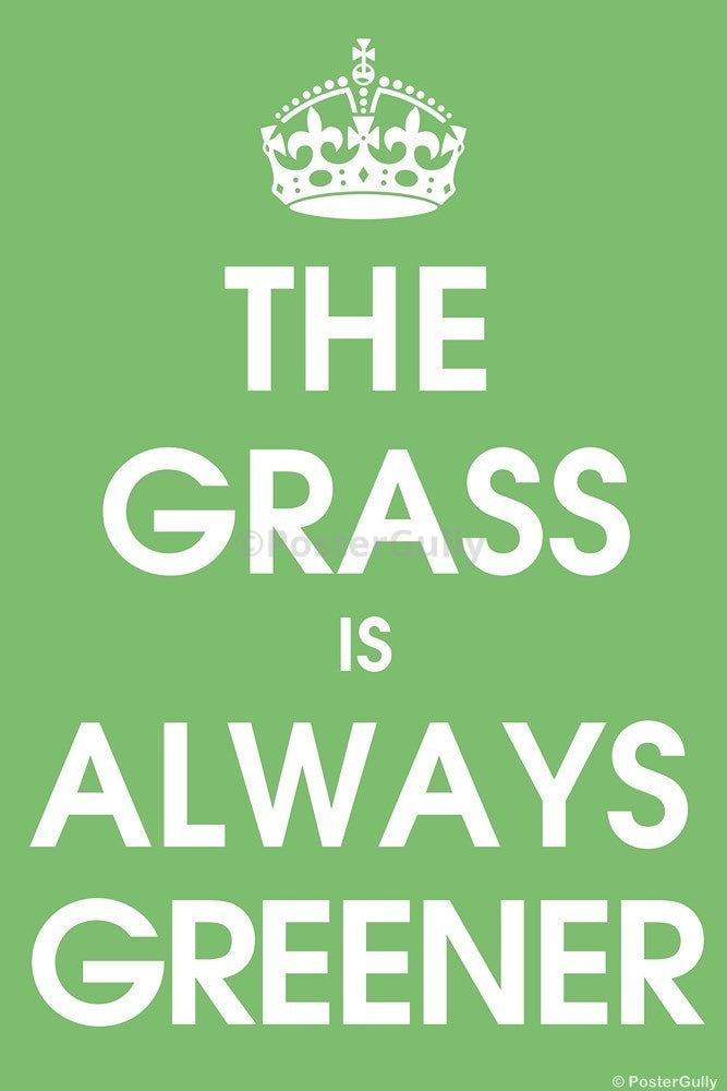 Wall Art, The Grass Is Always Greener, - PosterGully