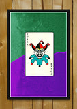 Glass Framed Posters, The Joker Card Glass Framed Poster, - PosterGully - 1
