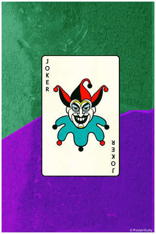 Wall Art, The Joker Card, - PosterGully
