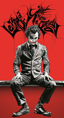 PosterGully Specials, The Joker | Red & Black Artwork, - PosterGully