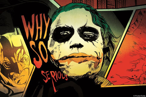 PosterGully Specials, The Joker | Why So Serious Artwork, - PosterGully