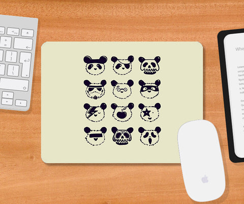 Mousepads, The Most Disguised Panda - Cream Mousepad | By Captain Kyso, - PosterGully