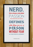 Glass Framed Posters, The Nerd Glass Framed Poster, - PosterGully - 1