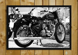 Glass Framed Posters, The Royal Enfield Glass Framed Poster, - PosterGully - 1