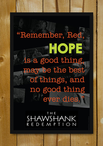 Glass Framed Posters, The Shawshank Redemption Quote 2 Glass Framed Poster, - PosterGully - 1