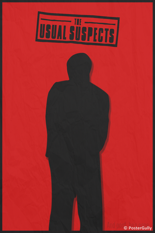 Wall Art, The Usual Suspects Minimal Red, - PosterGully