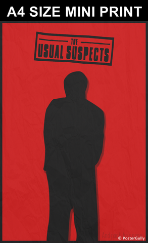 Mini Prints, The Usual Suspects Minimal Red | Mini Print, - PosterGully