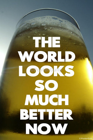 Wall Art, The World Is Better | Beer Humour, - PosterGully