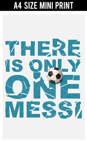Mini Prints, There Is Only One Messi | Mini Print, - PosterGully