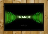 Glass Framed Posters, Trance Waves Armin Van Buuren Glass Framed Poster, - PosterGully - 1