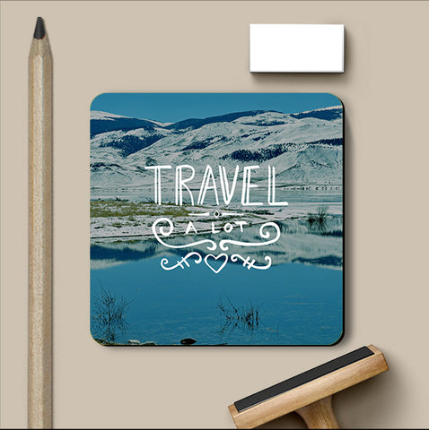 PosterGully Coasters, Travel A Lot Coaster, - PosterGully