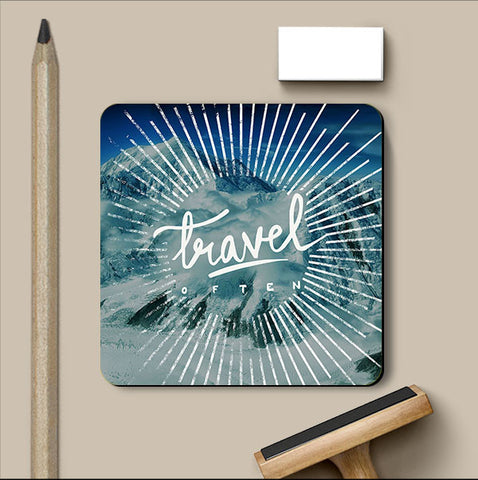PosterGully Coasters, Travel Often Coaster, - PosterGully