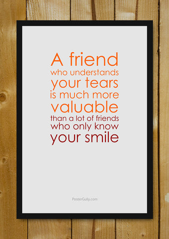 Glass Framed Posters, True Friend Glass Framed Poster, - PosterGully - 1
