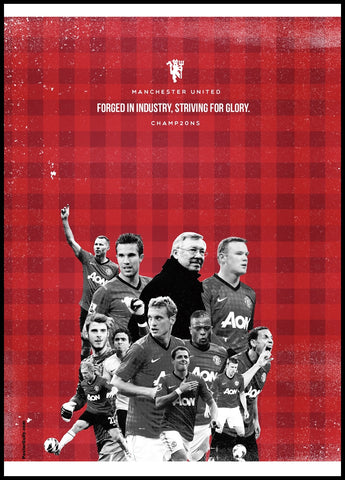 PosterGully Specials, Manchester United 20 Minimal Art, - PosterGully