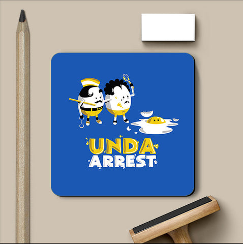 PosterGully Coasters, Unda Arrest - Blue Coaster | By Captain Kyso, - PosterGully