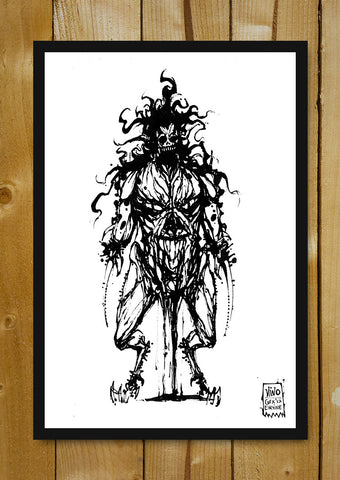 Glass Framed Posters, Underworld Scavenger Line Art Glass Framed Poster, - PosterGully - 1