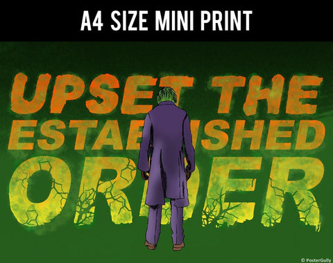 Mini Prints, Upset The Established Order - Joker | Mini Print, - PosterGully