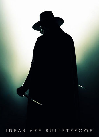 PosterGully Specials, V For Vendetta | Guy Fawkes Shadow, - PosterGully