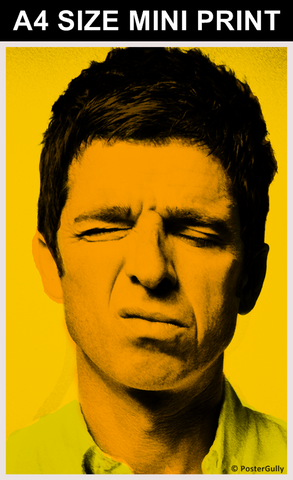 Mini Prints, Vintage Noel Gallagher - Oasis | Mini Print, - PosterGully