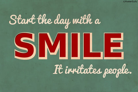 Wall Art, Vintage Smile Humour, - PosterGully