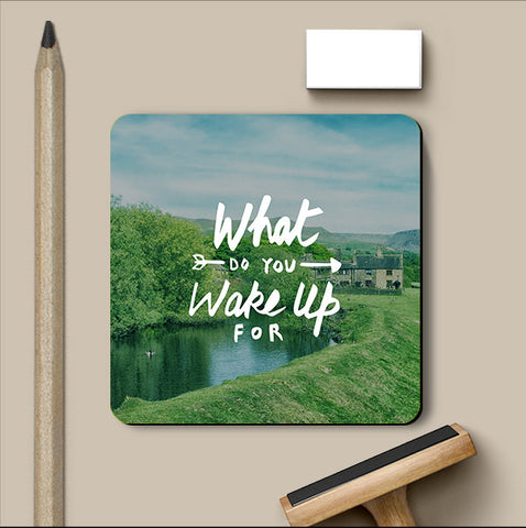 PosterGully Coasters, Wake Up For Coaster, - PosterGully