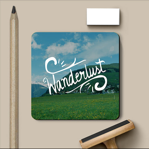PosterGully Coasters, Wanderlust Coaster, - PosterGully