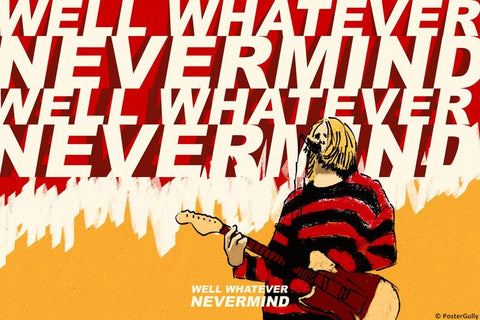 Wall Art, Whatever Nevermind | Kurt Cobain | Nirvana, - PosterGully