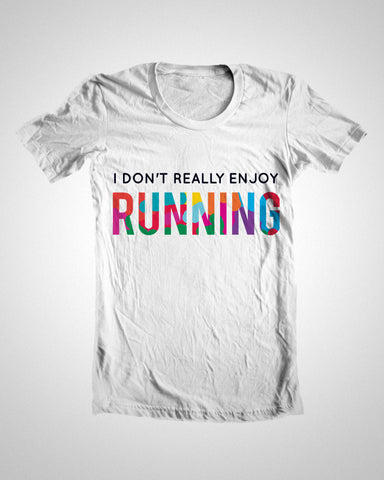 T Shirts, White Running Humour T-Shirt, - PosterGully