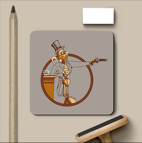 PosterGully Coasters, Wind Up Duelist Coaster | By Captain Kyso, - PosterGully
