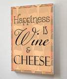 Canvas Art Prints, Happiness - Wine Stretched Canvas Print, - PosterGully - 3