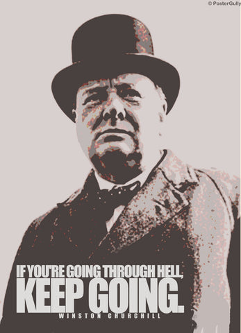 PosterGully Specials, Winston Churchill Quote | Hell, - PosterGully