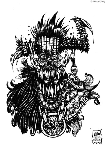Wall Art, Witch Doctor Line Art, - PosterGully